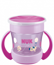 NUK Mini Magic Cup 160ml with drinking rim and lid-Pink